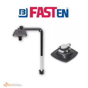 Fasten Telescopic Transducer arm + Platform 100 x 100 mm + [PVC BASE] 1110 x 110 mm for fishfinder