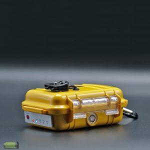 Lithium Accu Dieptemeter 12V-9Ah Waterdicht Peli™ 1010 Geel