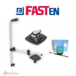 Fasten Adjustable Fishfinder Mount + Transducer arm + [PVC Basis] (110x110 mm) + Glue Kit