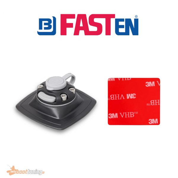 Fasten Holder PVC Base 110 mm X 110 mm + VHB 3M Pad Mounting- Double Glue Black