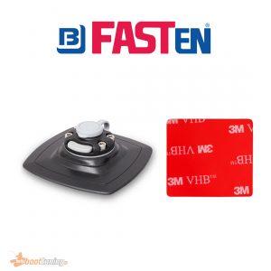 Fasten Holder PVC Base 140 mm X 140 mm + VHB 3M Pad Mounting- Double Glue Black