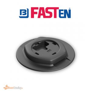Fasten round base with C-profile rail system
