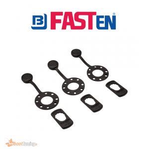 fasten black lock and cap